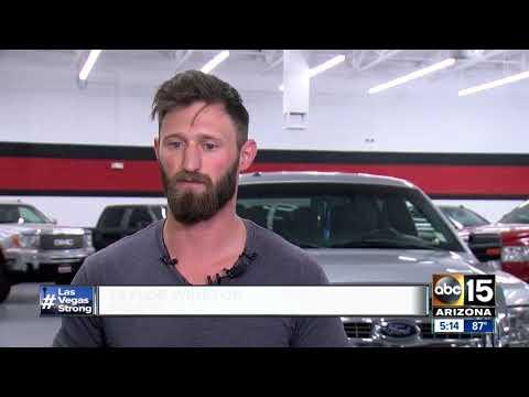 Las Vegas shooting hero gets truck of his own