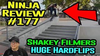 Ninja Review #177: HUGE Hardflips And SHAKING Filmers!