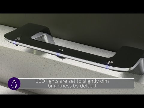 Verge with WashBar Technology - How to set the standby LED brightness level