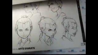 Afro Samurai character setting, by Takamura Store