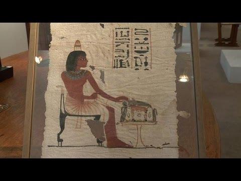 Un rarissime carré de lin funéraire égyptien mis aux enchères
