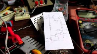 Discrete audio amplifier output stage on breadboard