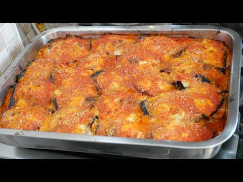 Spaghetti alla parmigiana al forno- ricetta con melanzane