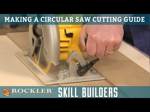 Make a Simple Circular Saw Cutting Guide | Rockler Skill Builders