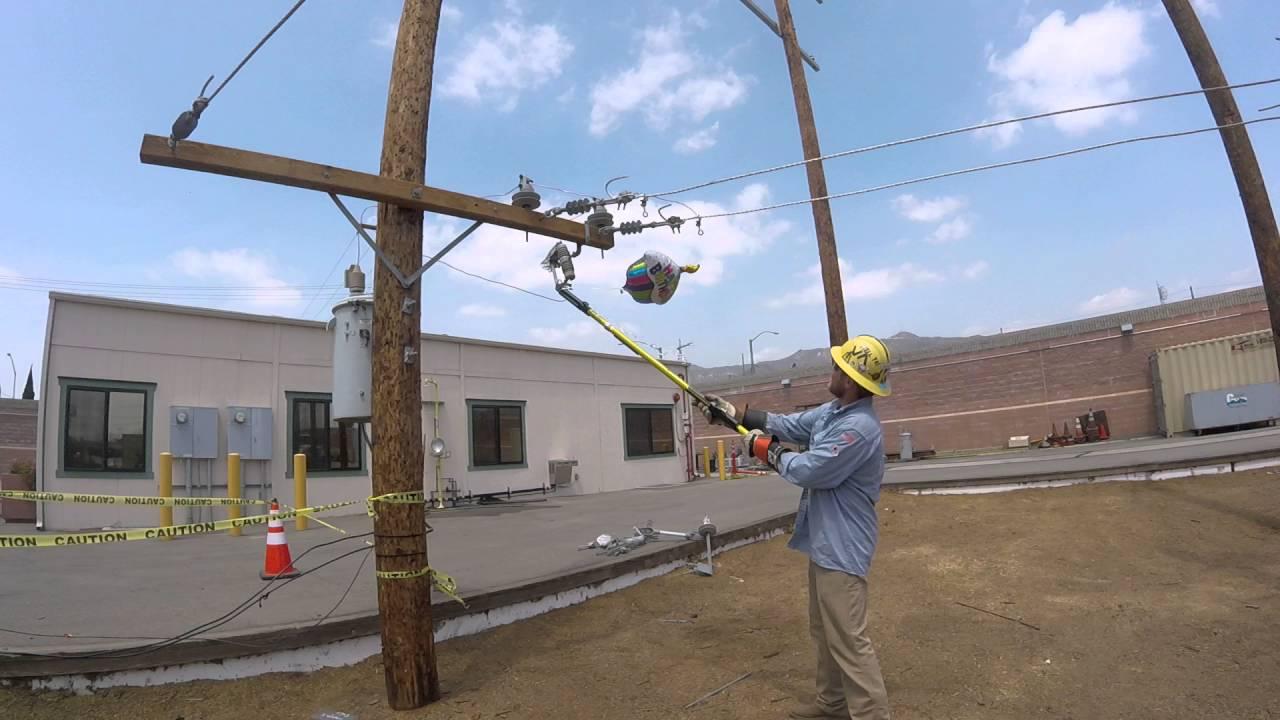 Mylar balloon contacting power lines