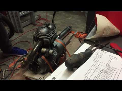 BMW R26 from 1960 Motor Engine Test 2