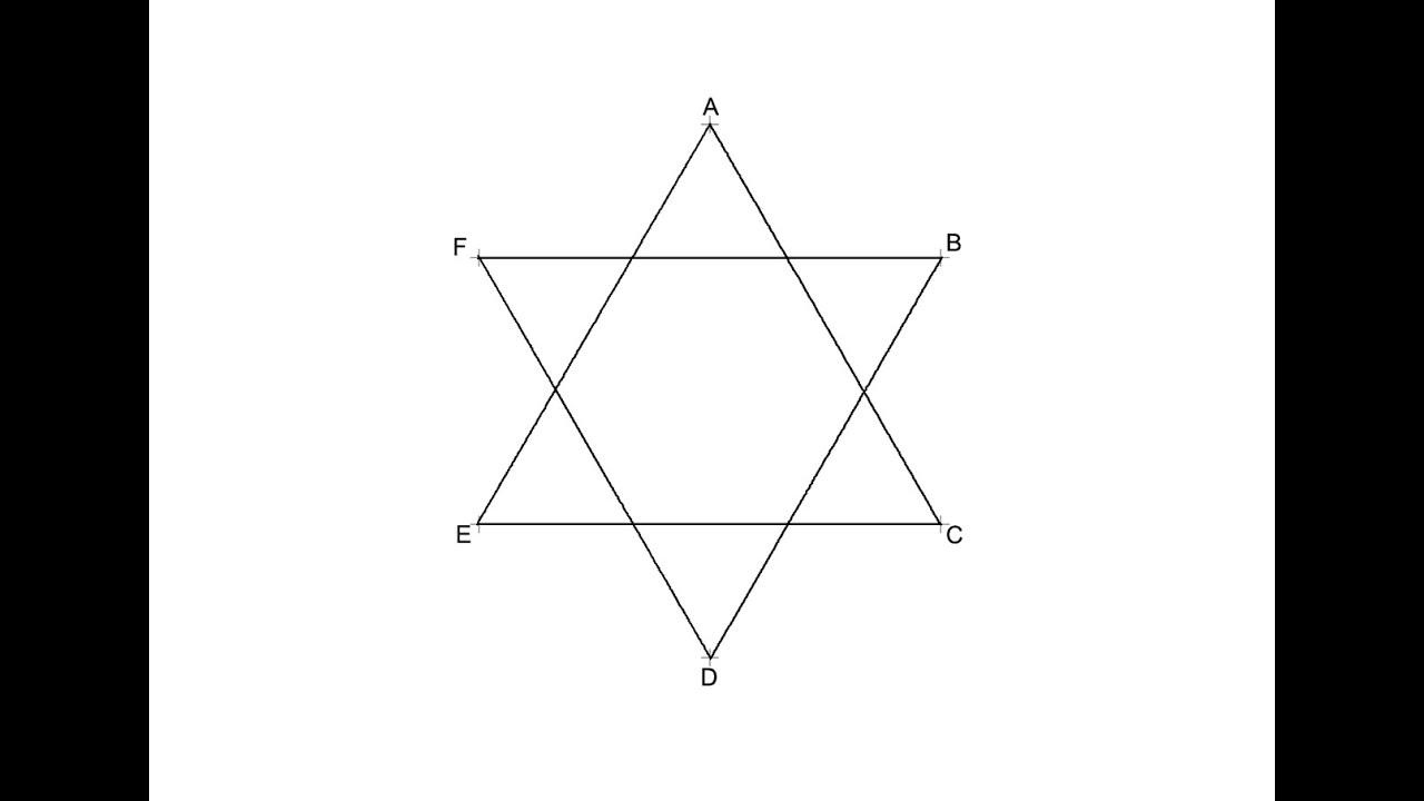 Hexágono Estrellado Estrella De David 6 Puntas