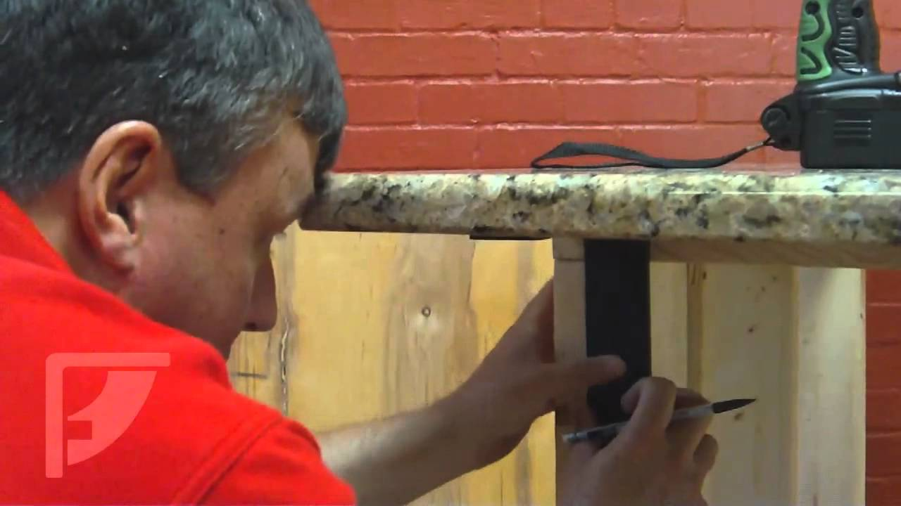 How To Install Freedom Countertop Brackets For An Invisible Countertop  Support   YouTube