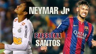 Neymar Jr. Santos vs. Neymar Jr. Barcelona ● Skills & Goals || HD 2015 ||