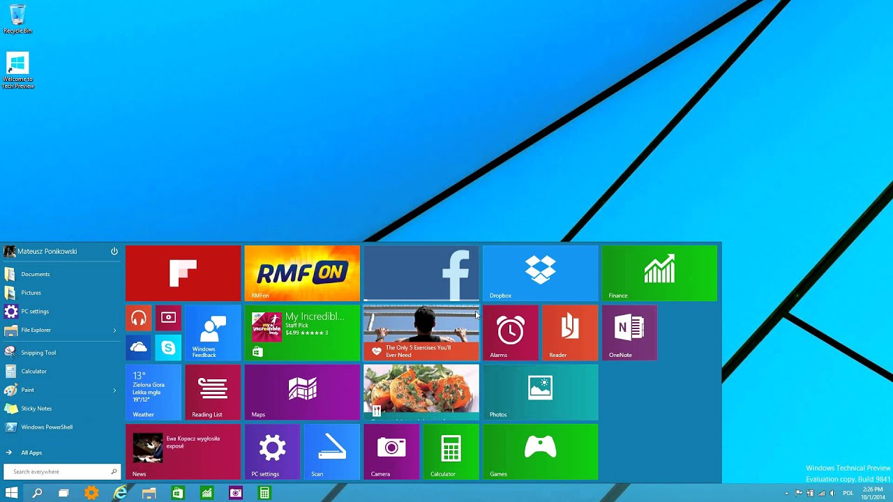Windows 10 technical preview 10036