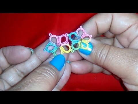 29-Shuttle Tatting For Beginners#Lesson-4,How To Make Basic Flower(Hindi/Urdu)