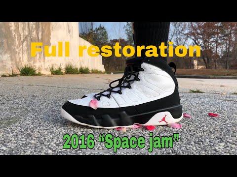 FULL RESTORATION AIR JORDAN 9 SPACE JAM! (2016)