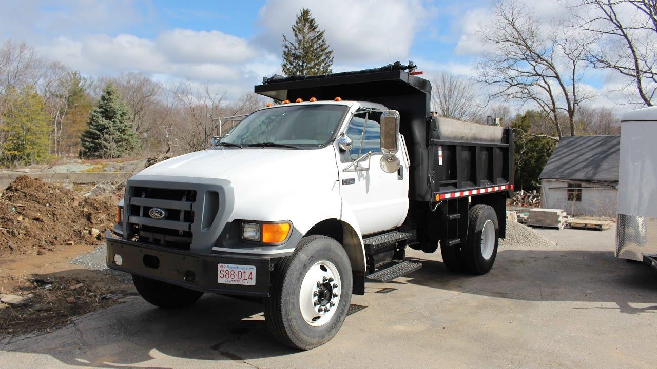 Ford f750 dump truck walk around