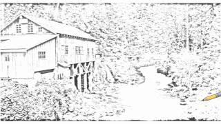 Auto Draw 2: Cedar Creek Grist Mill, Near Vancouver, Washington