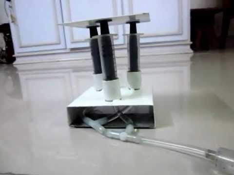 Hydraulic Lift Demonstration Model Yashwanthi Youtube