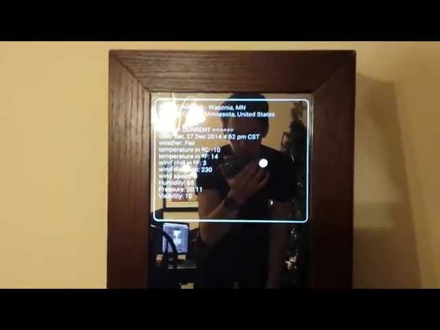 Watch This Diy Android Smart Mirror In Action Androidpit
