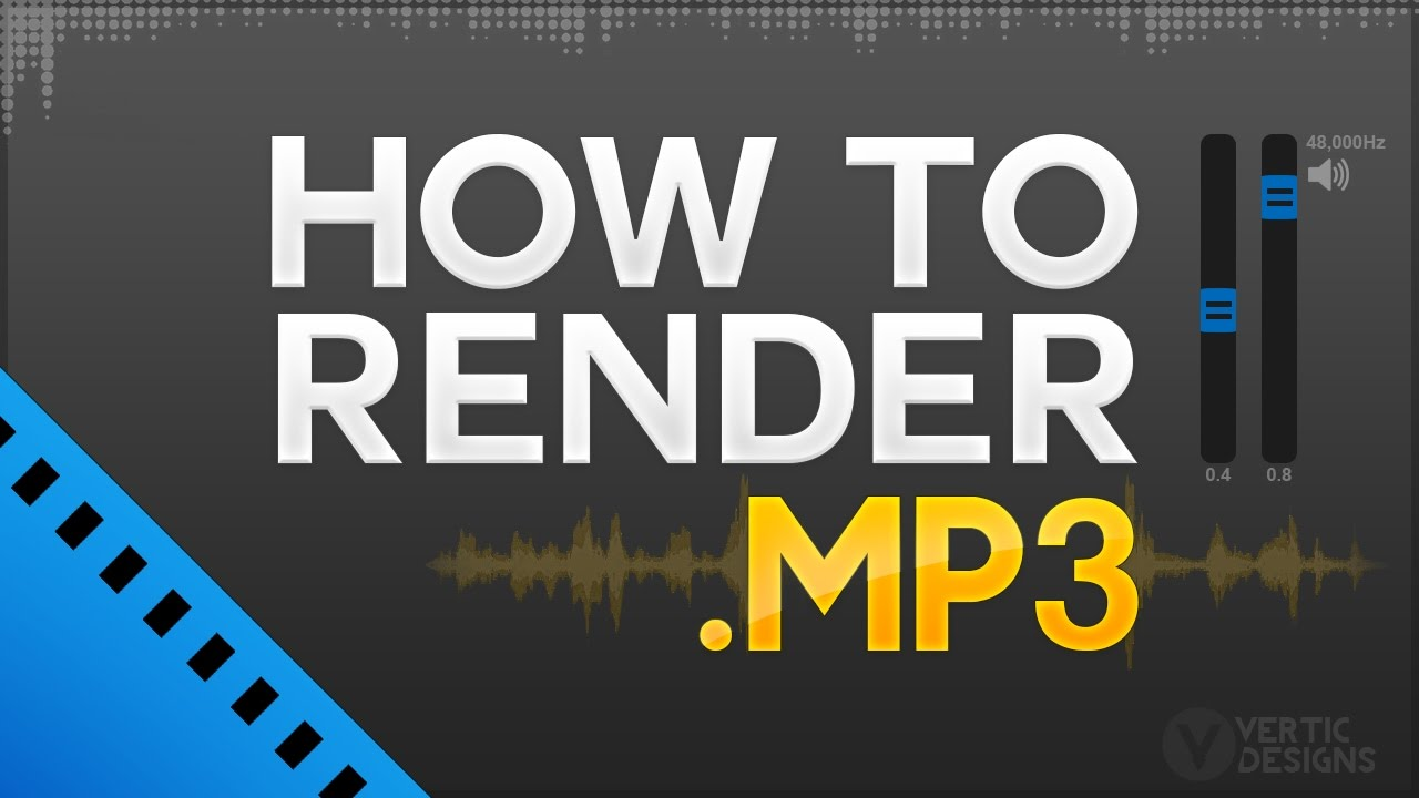 Mp3 Audio Sony Vegas Pro 13 14 How To Render As Mp3 Audio Format High Quality Audio