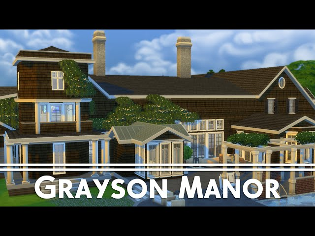 The Sims 4 House Building Grayson Manor Revenge Youtube