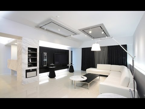 Black And White Living Room Design Decorating Ideas - YouTube