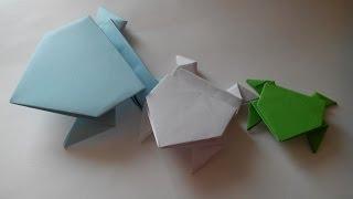 Как сделать лягушку из бумаги(На видео показано, как сделать бумажную лягушку оригами. Это не простое стационарное оригами -- лягушка..., 2014-03-20T12:55:59.000Z)