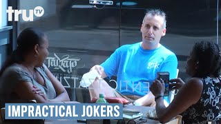 Joe paces the inside and outside of a restaurant to figure out wher...