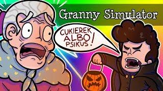 CUKIEREK ALBO PSIKUS! HALOWEEN U BABCI! | GRANNY SIMULATOR /w Puzonik