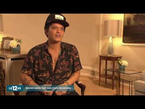 Bruno Mars' interview on 12:45 (French TV)