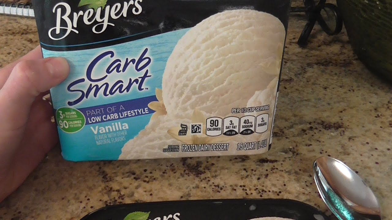 Cream Low Carb Diabetes Breyers Ice