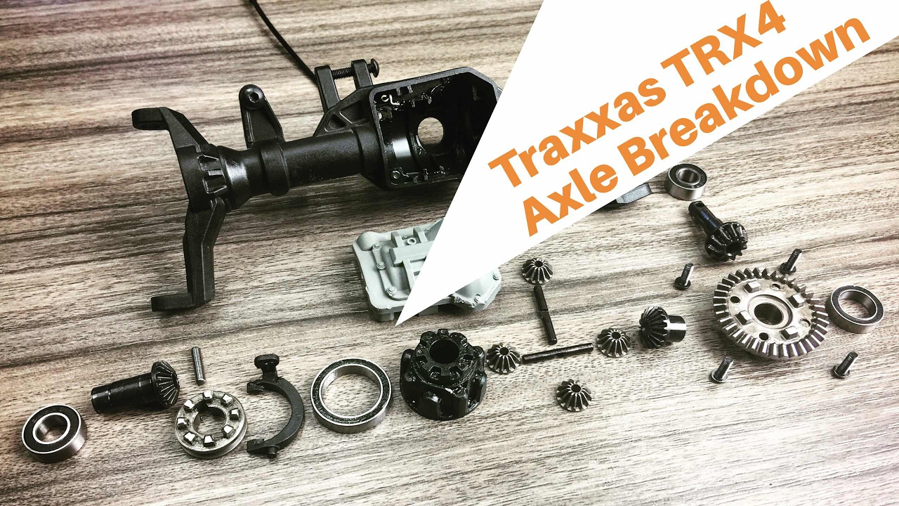 Traxxas TRX4 Axle Disassembly Portals Amp Selectable