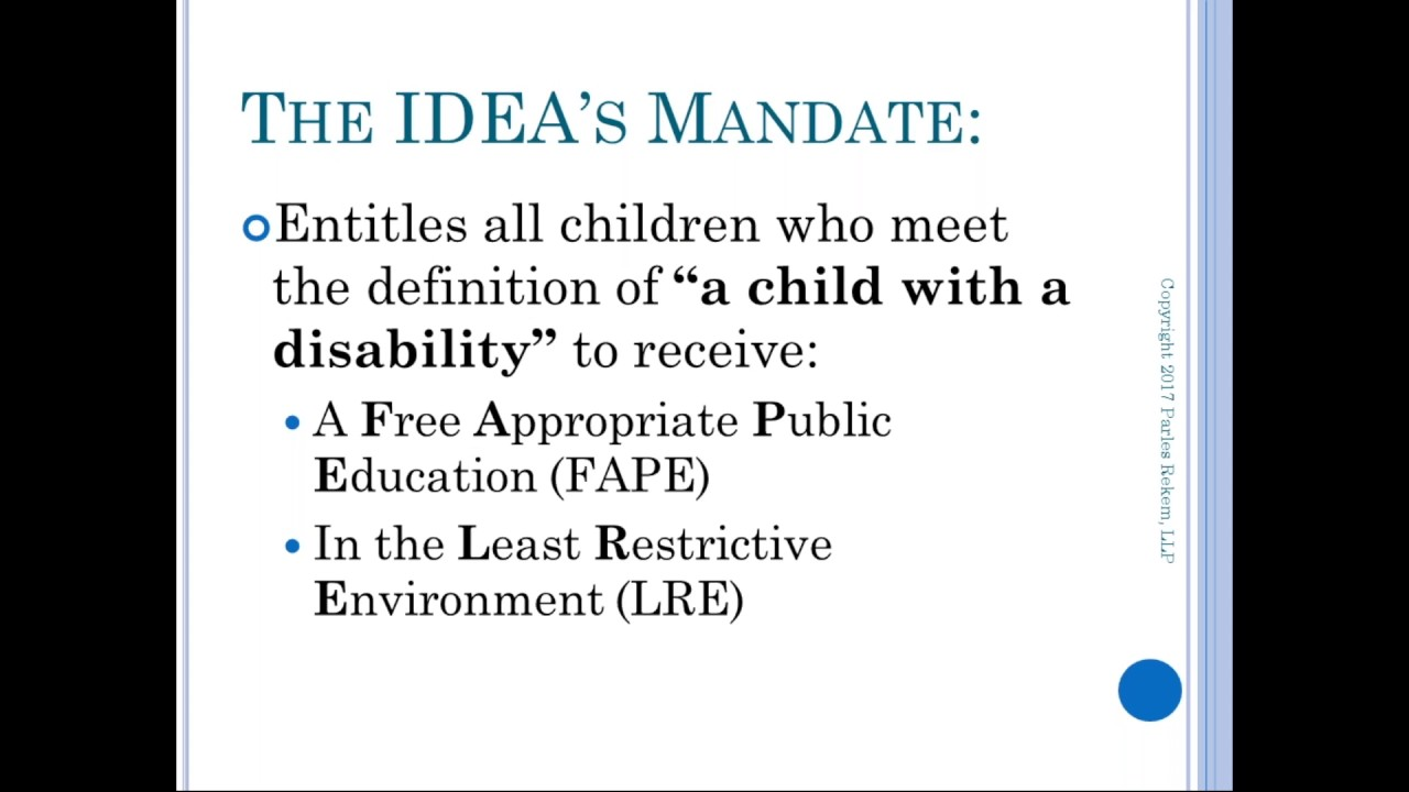 WEBINAR: What's in Your Child's IEP?