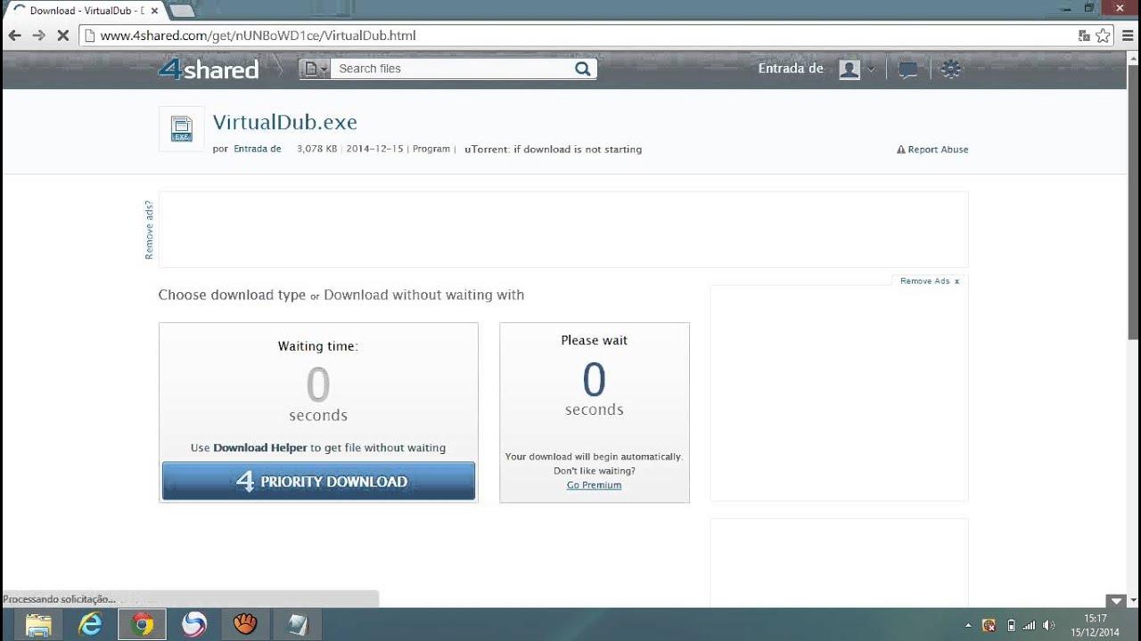 o programa virtualdub em portugues