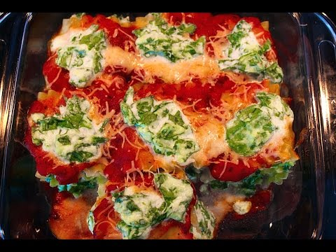 Healthy Cooking: Lasagne Rolls