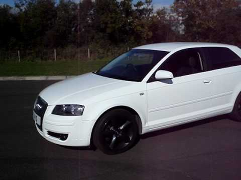 White Audi A3 Black Rims