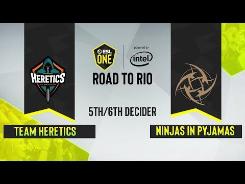 CS:GO - Ninjas In Pyjamas Vs. Heretics [Vertigo] Map 3 - ESL One:Road To Rio - 3rd/4th Decider - EU