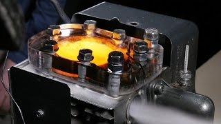 Работа двигателя под стеклом