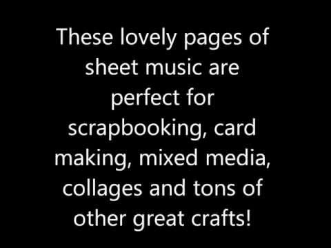 Vintage Sheet music book papers lot of 10 pages