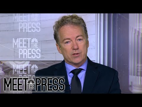 Senator Rand Paul: 'Unfair' To Call President Trump A Racist (Full) | Meet The Press | NBC News
