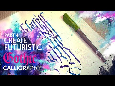 4. Make Futuristic Gothic Calligraphy - Clearcut [Русские Субтитры]