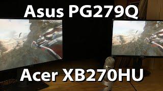 Asus PG279Q vs Acer XB270HU