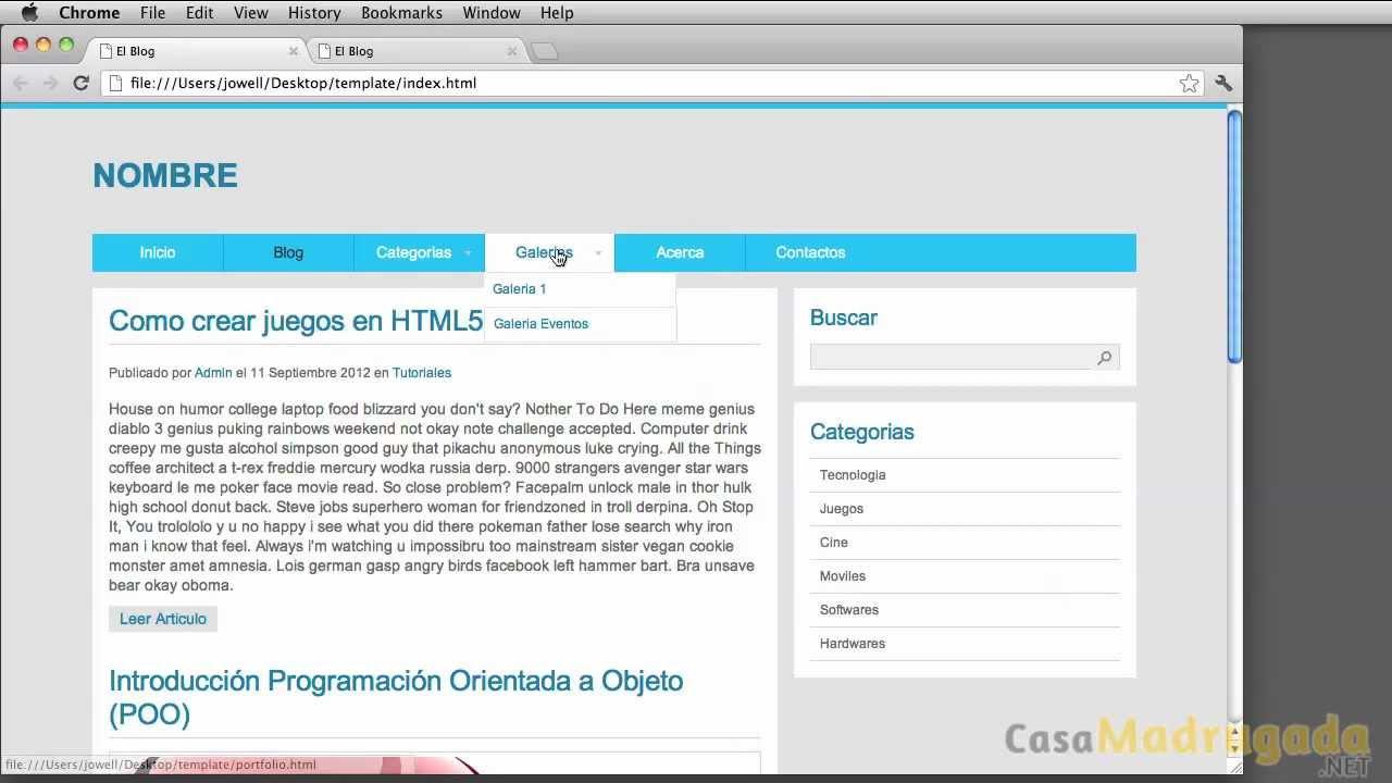 Tutorial XHTML & CSS - 61 - Crear Plantilla/Template - Definir ...