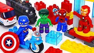 LEGO Duplo Iron Man, Captain, Hulk go! Save the Titipo! | PinkyPopTOY
