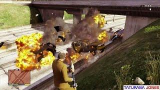 GTA 5 - Como explodir dezenas de carros na estrada ( Vídeo épico )