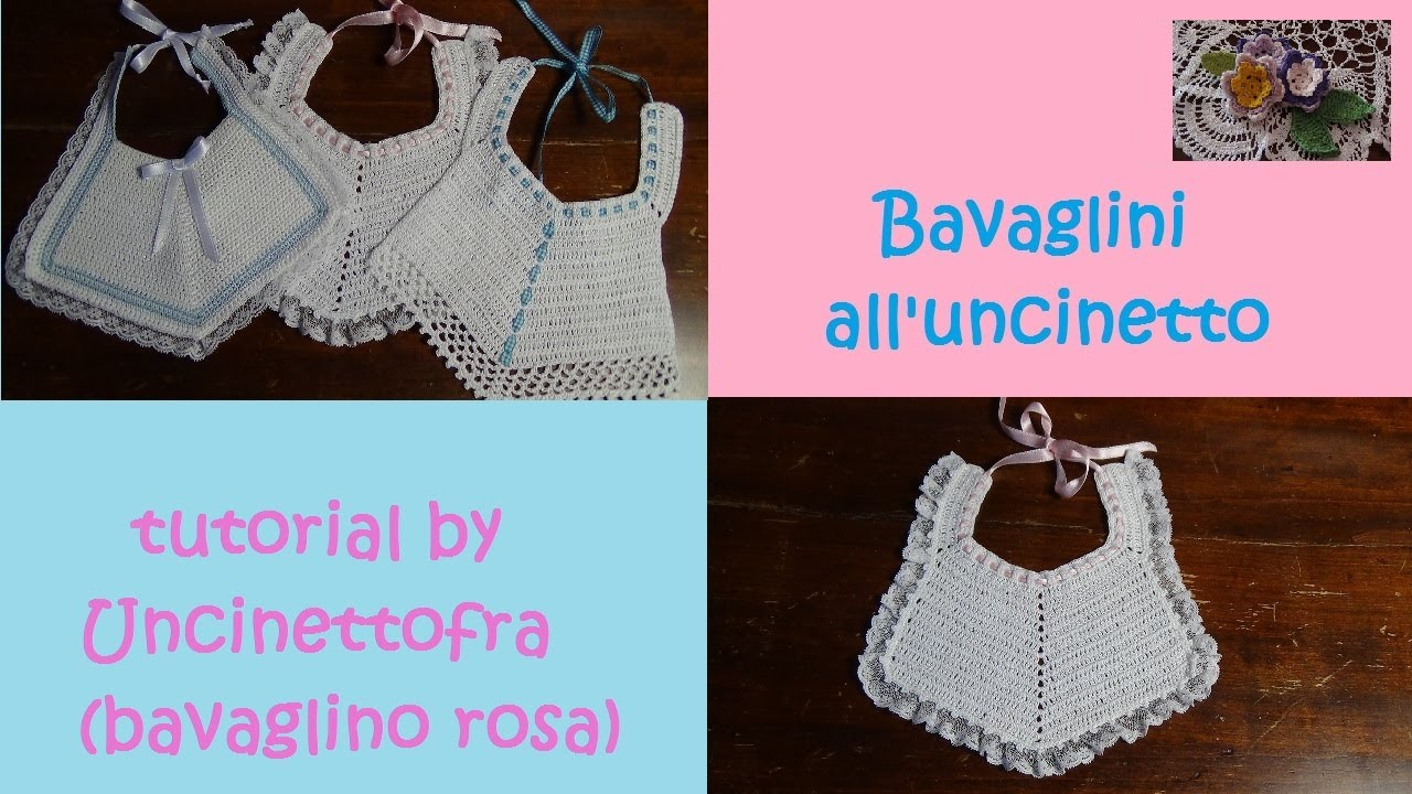 Bavaglini Alluncinetto Tutorial Bavaglino Rosa Youtube
