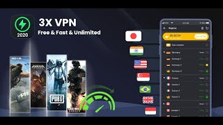 3X VPN - Free, Unlimited, Surf safely, Boost apps screenshot 1