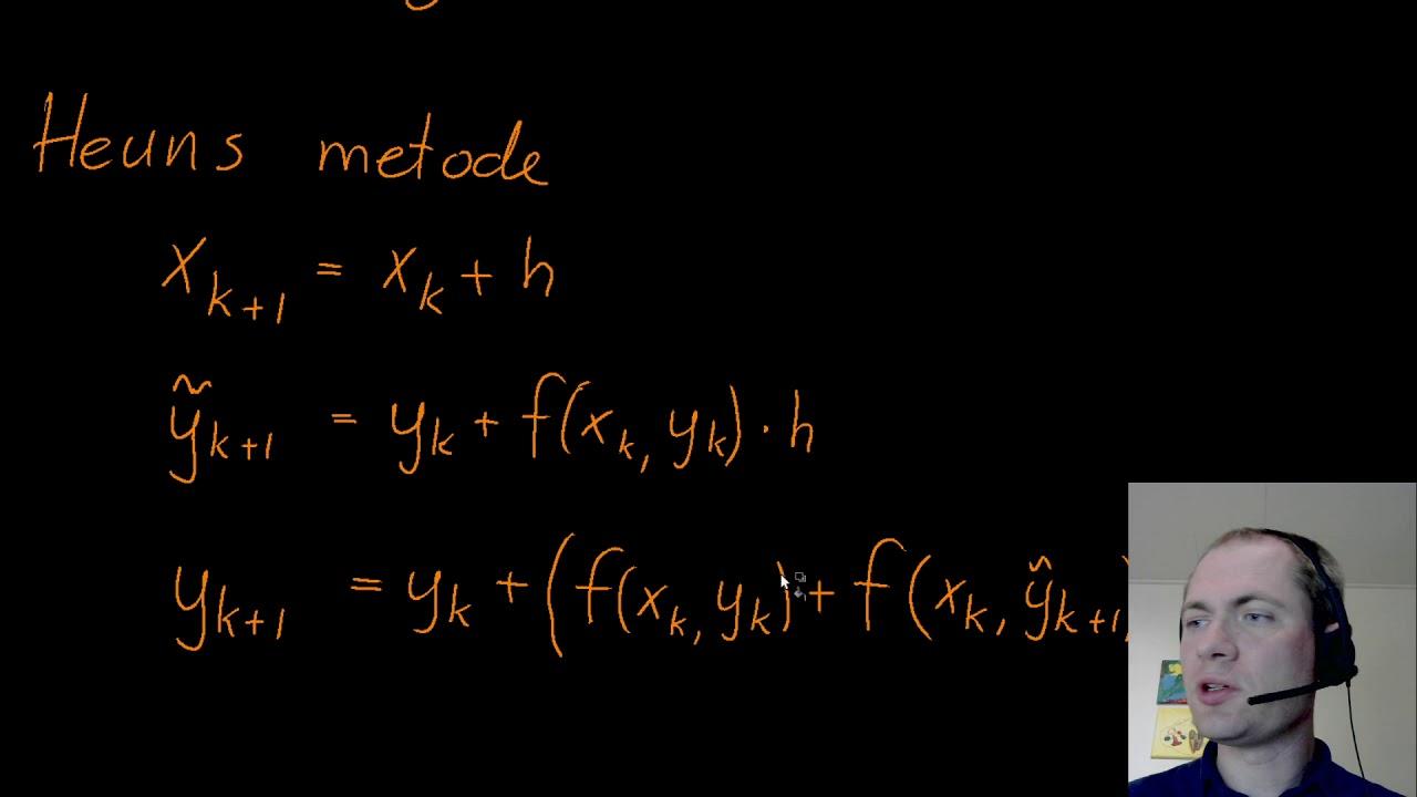 Eulers og Heuns metoder til at løse differentialligninger numerisk