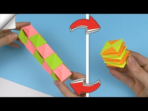 DIY crafts easy | Paper toy antistress transformer