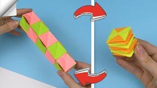 DIY crafts easy   Paper toy antistress transformer