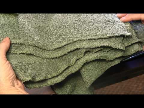 How To Make Dishcloth Or Washcloth From Old Towels (Recycling Craft)