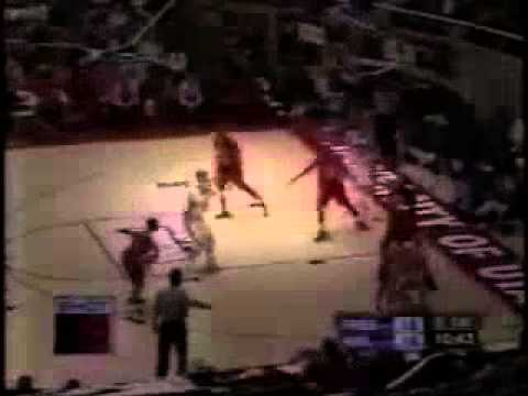 2000 Fresno State Basketball vs. Wisconsin NCAA Tournament First Round (First Half and part of 2nd)