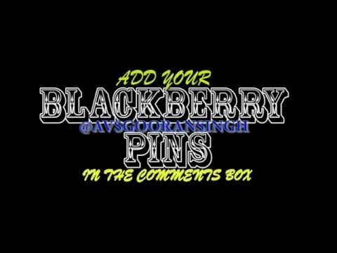 Blackberry PIN Exchange